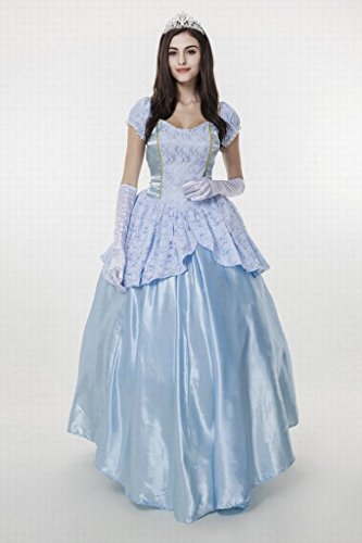 Womens-Enchanting-Princess-Costume-Cinderella-Ball-Gown-Fairy-  sc 1 st  Halloween Costumes Best & Womenu0027s Enchanting Princess Costume Cinderella Ball Gown Fairy Tale ...