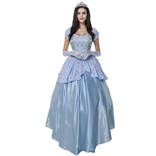 Women's Enchanting Princess Costume Cinderella Ball Gown Fairy Tale Deluxe Dress