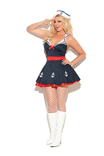 Womens Sailors Delight Female Sailor Girl Halloween Roleplay Costume 2pc Set