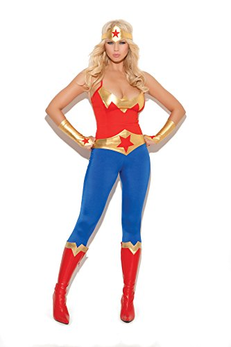Womens-Sexy-Female-Girl-Super-Hero-Halloween-Roleplay-Cosplay-Costume-5pc-Set-0
