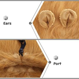 YOUTHINK-Lion-Mane-for-Dog-Large-Medium-with-Ears-Pet-Lion-Mane-Costume-Button-Adjustable-Holiday-Photo-Shoots-Party-Festival-Occasion-Light-Brown-0-1