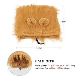 YOUTHINK-Lion-Mane-for-Dog-Large-Medium-with-Ears-Pet-Lion-Mane-Costume-Button-Adjustable-Holiday-Photo-Shoots-Party-Festival-Occasion-Light-Brown-0-2