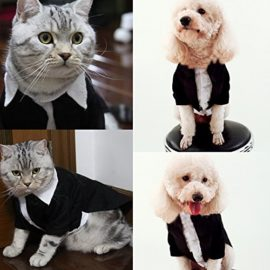 iPet-Handsome-Prince-Cat-Bridegroom-Wedding-Tuxedo-Faux-Twinset-Design-Small-Boy-Dog-Formal-Attire-Doggy-Party-Wear-Puppy-Birthday-Outfit-Doggie-Photo-Apparel-with-Buttons-Holiday-Fabric-Clothes-Hallo-0-3