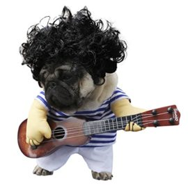 wowowo-Dog-Costume-for-Small-Medium-Dogs-Cats-Super-Funny-Crazy-Guitarist-Style-Dog-Clothes-with-Pet-Curly-Wig-Best-for-Weekend-Parties-Birthday-Halloween-Christmas-0-0