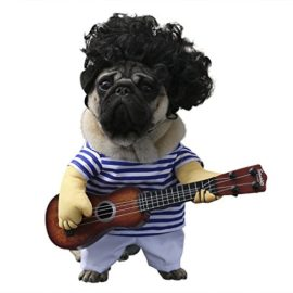 wowowo-Dog-Costume-for-Small-Medium-Dogs-Cats-Super-Funny-Crazy-Guitarist-Style-Dog-Clothes-with-Pet-Curly-Wig-Best-for-Weekend-Parties-Birthday-Halloween-Christmas-0-1