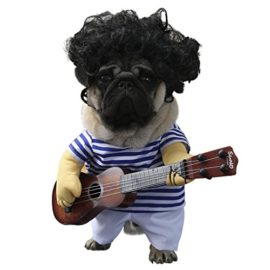 wowowo-Dog-Costume-for-Small-Medium-Dogs-Cats-Super-Funny-Crazy-Guitarist-Style-Dog-Clothes-with-Pet-Curly-Wig-Best-for-Weekend-Parties-Birthday-Halloween-Christmas-0-2