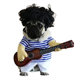 wowowo-Dog-Costume-for-Small-Medium-Dogs-Cats-Super-Funny-Crazy-Guitarist-Style-Dog-Clothes-with-Pet-Curly-Wig-Best-for-Weekend-Parties-Birthday-Halloween-Christmas-0-3