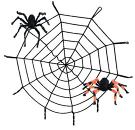10FT-Spider-Web-and-Giant-Spiders-Halloween-Decoration-0