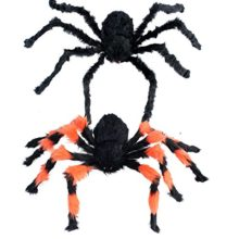 2pcs 35 inch halloween decoration virtual realistic hairy spider