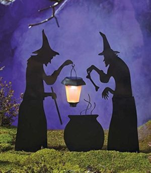 3-Piece-Witch-Stake-Cauldron-Pot-Solar-Lighted-Lantern-Halloween-Silhouette-0