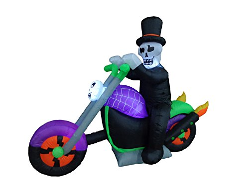 6-Foot-Long-Halloween-Inflatable-Skeleton-Riding-on-Motorcycle-Party-Yard-Decoration-0