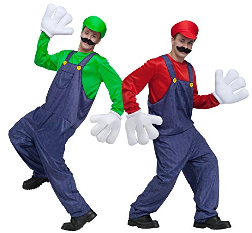Adult Mario and/or Luigi Video Game Guy Costume