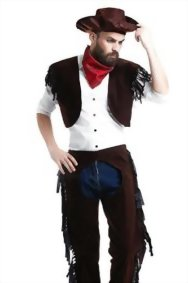Adult-Men-Rodeo-Cowboy-Chaps-Costume-Wild-West-Sheriff-Cowpoke-Dress-Up-Role-Play-0