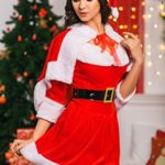 Adult-Women-Miss-Santa-Costume-With-Cape-Role-Play-Christmas-New-Year-Dress-Up-0-1