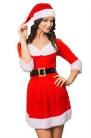 Adult-Women-Miss-Santa-Costume-With-Cape-Role-Play-Christmas-New-Year-Dress-Up-0