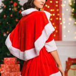 Adult-Women-Miss-Santa-Costume-With-Cape-Role-Play-Christmas-New-Year-Dress-Up-0-4