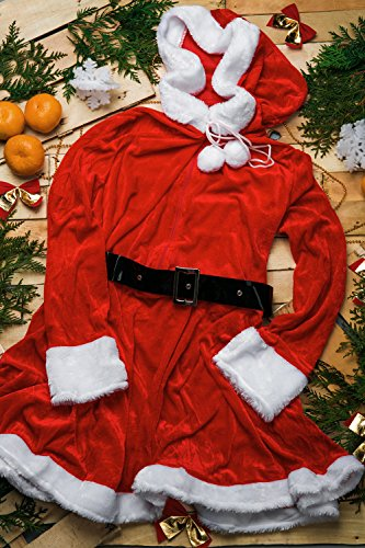 Adult women santa girl costume mrs claus role play
