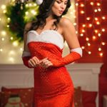 Adult-Women-Santa-Girl-Sequined-Costume-Mrs-Claus-Role-Play-Christmas-Dress-Up-0-0