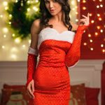 Adult-Women-Santa-Girl-Sequined-Costume-Mrs-Claus-Role-Play-Christmas-Dress-Up-0-1