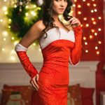 Adult-Women-Santa-Girl-Sequined-Costume-Mrs-Claus-Role-Play-Christmas-Dress-Up-0-2