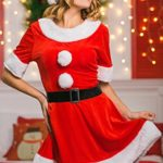 Adult-Women-Sweet-Miss-Mrs-Santa-Costume-Role-Play-Christmas-New-Year-Dress-Up-0-1