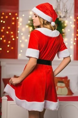 Adult-Women-Sweet-Miss-Mrs-Santa-Costume-Role-Play-Christmas-New-Year-Dress-Up-0-3