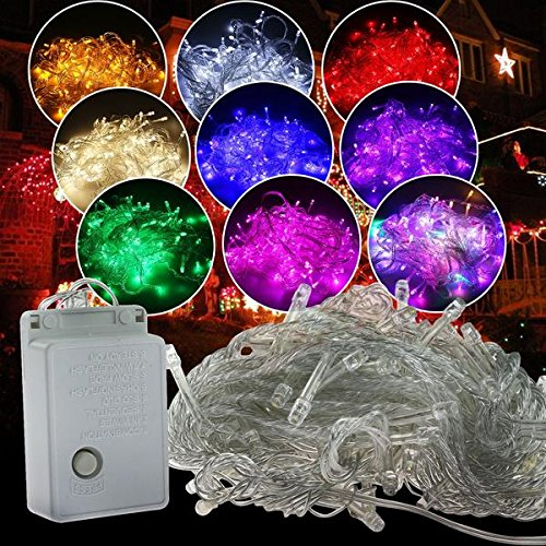 Autolizer LED Fairy String Lights Lamp for Xmas Tree Holiday Wedding Party Decoration Halloween Showcase Displays Restaurant or Bar and Home Garden – Control up to 8 modes