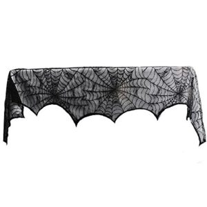 Aytai-18-x-96-inch-Cobweb-Fireplace-Scarf-Mysterious-Halloween-Party-Door-Window-Decoration-Lace-Black-SpiderWeb-Mantle-Lace-Runner-Fireplace-Scarf-Festive-Supplies–0