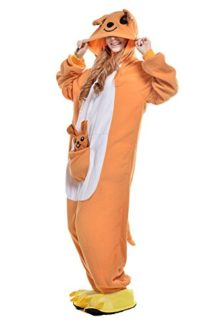 BELIFECOS-Unisex-Adult-Pajamas-Plush-One-Piece-Cosplay-Animal-Costume-Kangaroo-0