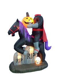 BZB-Goods-7-Foot-Tall-Illuminated-Halloween-Inflatable-Headless-Horseman-with-Tombstones-0