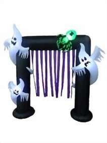 BZB-Goods-8-Foot-Illuminated-Halloween-Inflatable-Ghosts-and-Spider-Archway-Decoration-with-Purple-Streamers-0