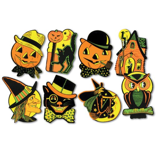 Beistle 01009 Packaged Halloween Cutouts, 8.5″ – 9.25″