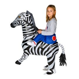 Bodysocks-Inflatable-Zebra-Piggyback-Animal-Zoo-Childrens-Fancy-Dress-Costume-0-0