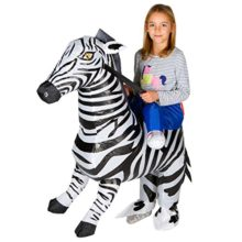 Bodysocks-Inflatable-Zebra-Piggyback-Animal-Zoo-Childrens-Fancy-Dress-Costume-0