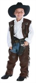 Boys-Cowboy-Chaps-Vest-Kids-Child-Fancy-Dress-Party-Halloween-Costume-0