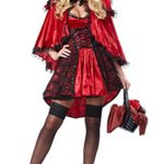 California-Costumes-Womens-Deluxe-Riding-Hood-RedBlack-X-Large-0
