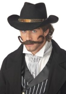 California-Costumes-Womens-The-Gunslinger-Moustache-Costume-0