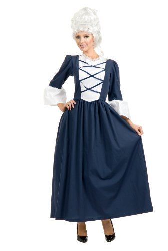 Charades Women's Colonial Lady Full Length Dress