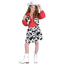 Childs-Western-Cowgirl-Halloween-Costume-Size-Medium-8-10-0