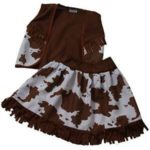 Classic-Cowgirl-Costume-Vest-Skirt-Choose-Color-and-Size-0-0