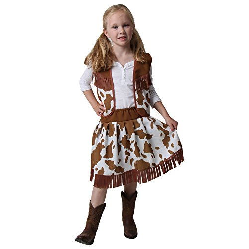 Classic Cowgirl Costume Vest & Skirt (Choose Color and Size)