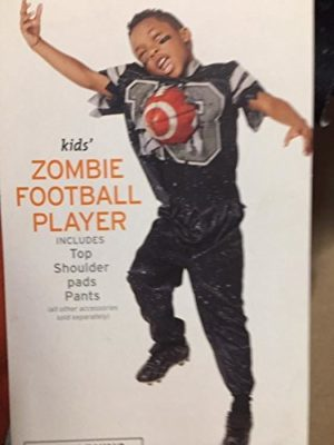 Costume-Boys-Zombie-Football-Player-Kids-Halloween-Size-SMALL-4-7-Deluxe-Impaled-0