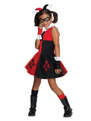 DC-Super-Villain-Collection-Harley-Quinn-Girls-Costume-with-Tutu-Dress-0