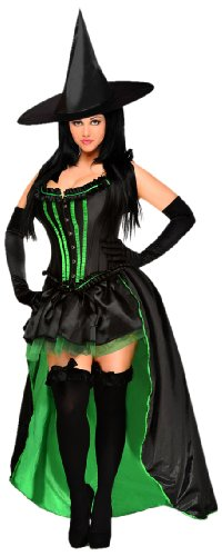 Daisy Corsets Women's 5 Piece Sexy Wicked Witch Costume