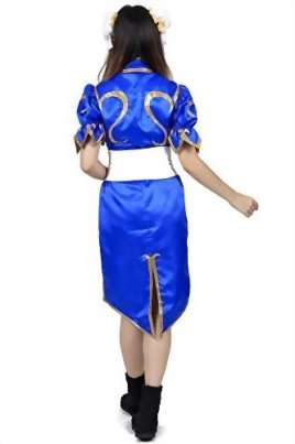 De-Cos-Street-Fighter-II-Cosplay-Chun-Li-1st-Ver-Blue-Fighting-Outfit-Set-0-2