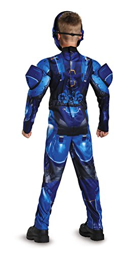 Disguise Blue Spartan Classic Muscle Halo Microsoft Costume
