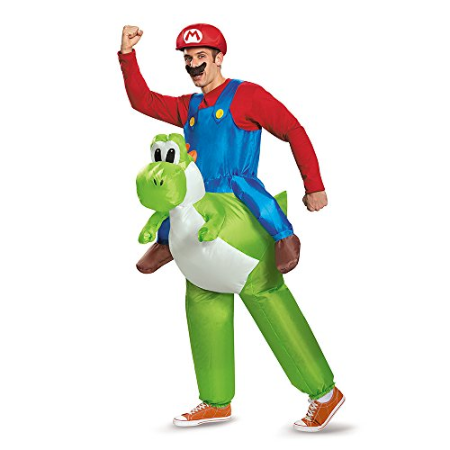 Disguise Men's Mario Riding Yoshi Adult Costume