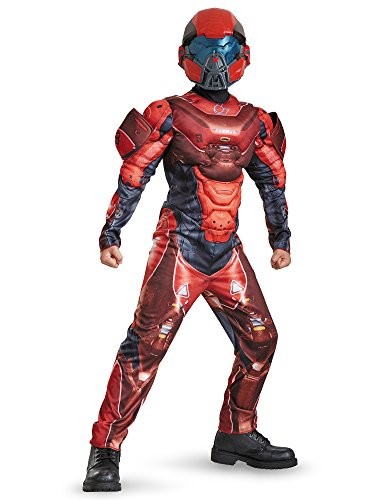 Disguise Red Spartan Classic Muscle Halo Microsoft Costume