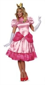 Disguise-Womens-Nintendo-Super-Mario-BrosPrincess-Peach-Deluxe-Costume-0