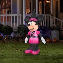 Disney-Minnie-Mouse-5-Ft-Tall-Halloween-Inflatable-Yard-Decor-LED-Light-Self-Inflates-in-Seconds-0